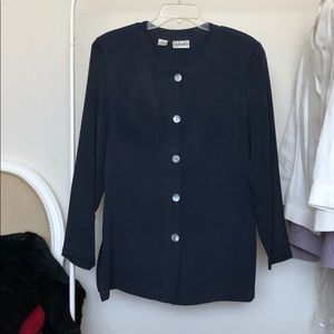 100% Silk Long-Sleeved Tunic